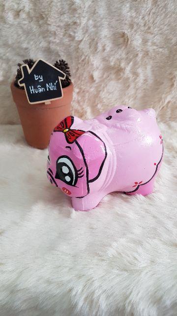 Heo đất handmade - heo Pinky