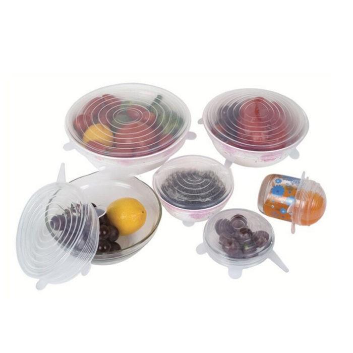 Combo 6 nắp đậy silicon FREESHIPNắp đậy thức ăn- đồ dùngcho nhà bếp
