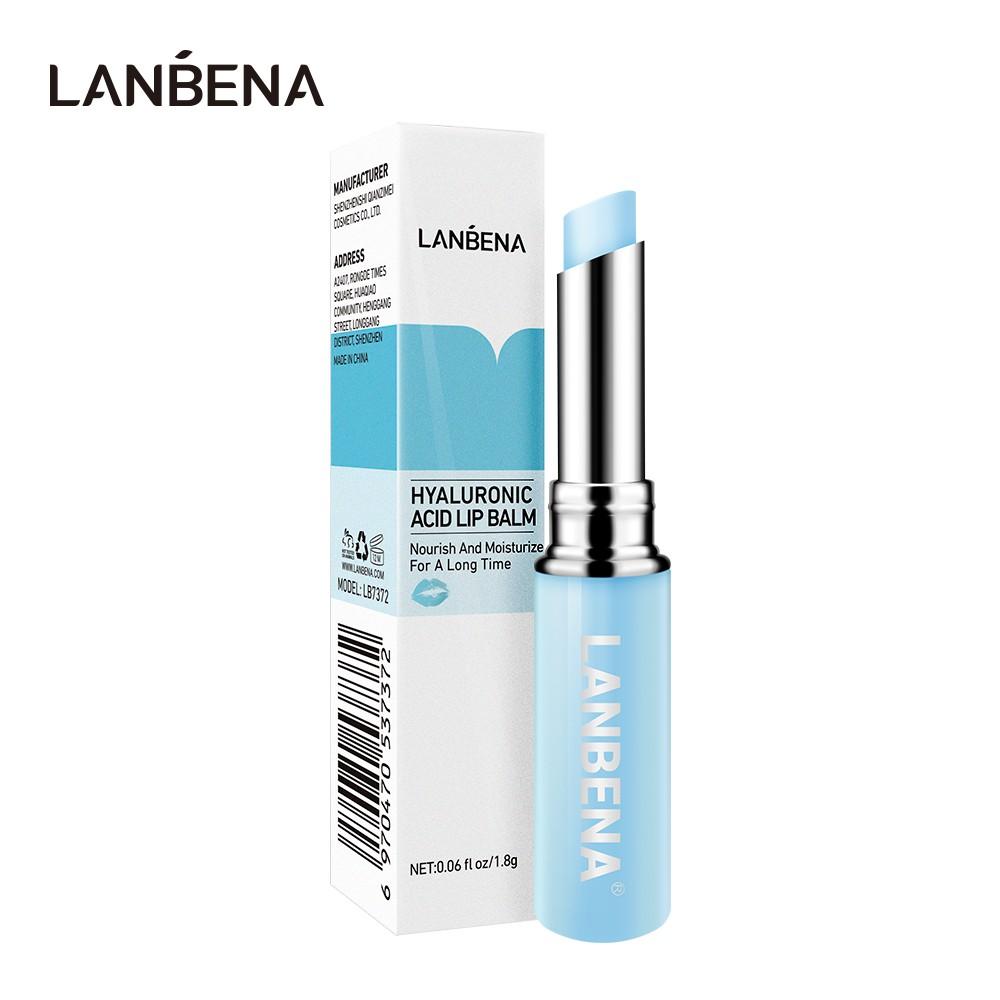 Son dưỡng môi Hyaluronic Acid giữ ẩm làm sáng vân môi và giảm khô môi LANBENA
