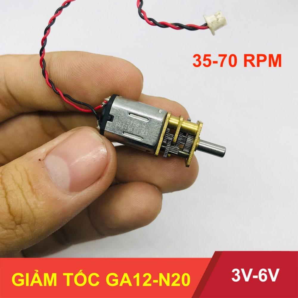 Motor giảm tốc GA12-N20 điện áp 3V – 6V tốc độ 35-70 vòng – LK0017-3