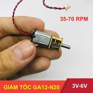 [Mã NOWSHIPVUI3 giảm 25k đơn 50k] Motor giảm tốc GA12-N20 điện áp 3V – 6V tốc độ 35-70 vòng – LK0017-3