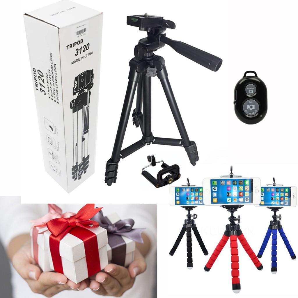 Bộ 1 Chân giá đỡ máy chụp ảnh Tripod TF-3120 + 2 Miếng kẹp điện thoại + 1 Giá đỡ Bạch Tuộc