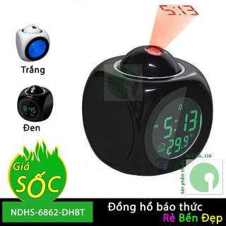 Đồng hồ báo thức có giọng nói và chiếu lên trần nhà xem giờ - NDHS-6862-DHBT-T