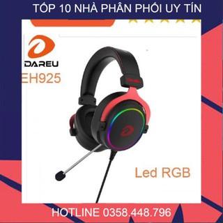 [𝐅𝐫𝐞𝐞𝐒𝐡𝐢𝐩 – 𝐡𝐚̀𝐧𝐠 𝐜𝐚𝐨 𝐜𝐚̂́𝐩] Tai nghe Dareu eh925 LED RGB – 7.1 (ko tháo mic )