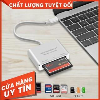 Đầu đọc thẻ USB Type C OTG cho thẻ nhớ CF/SD/TF
