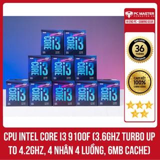CPU Intel Core i3-9100F (3.6GHz Turbo Up To 4.2GHz, 4 nhân 4 luồng, 6MB Cache, Coffee Lake)
