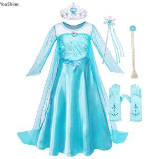 Đầm công chúa elsa cho bé gái từ 3-10 tuổi