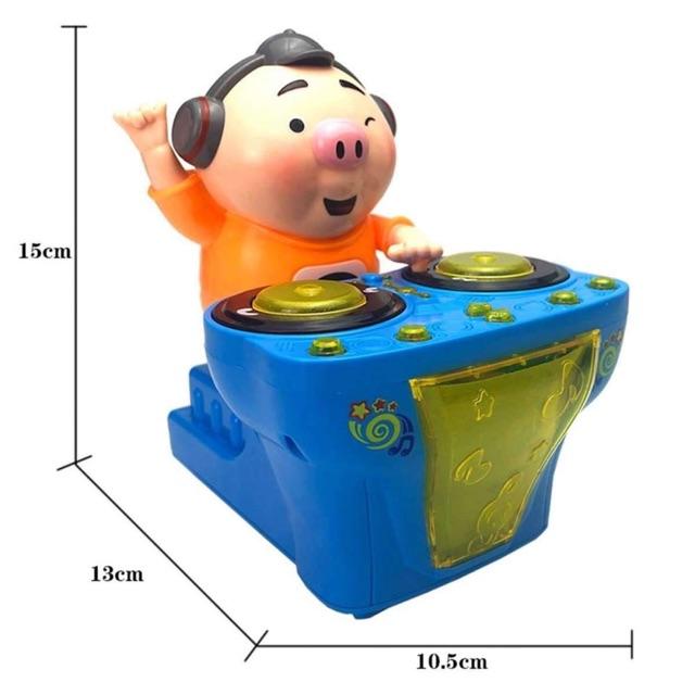 MỚI DJ Nhạc Điện Lợn Đồ Chơi Gây Cười Nhạc Ngộ Nghĩnh Đá Lợn có Đèn Cho Bé Đầu Giáo...