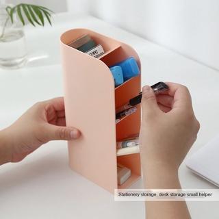 Multifunctional inclined pen holder desktop storage rack stationery storage rack makeup brush storage box outwalk