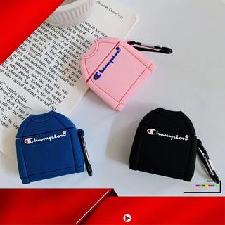 [ Hàng Hot ] Vỏ bảo vệ hộp sạc tai nghe không dây Bluetooth bằng silicon họa tiết áo thun in chữ Champion cho Apple Airp thumbnail