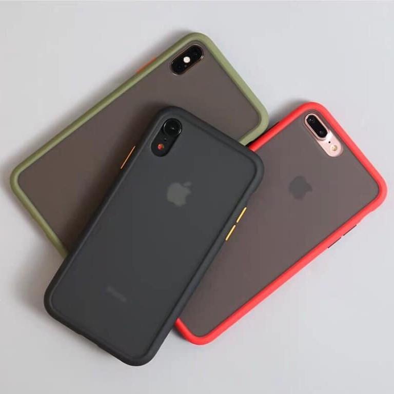 [Rẻ Vô Địch] Ốp Rock iphone lưng nhám 6plus 6splus 7plus 8plus X Xs Xsmax chống sốc chống vân tay