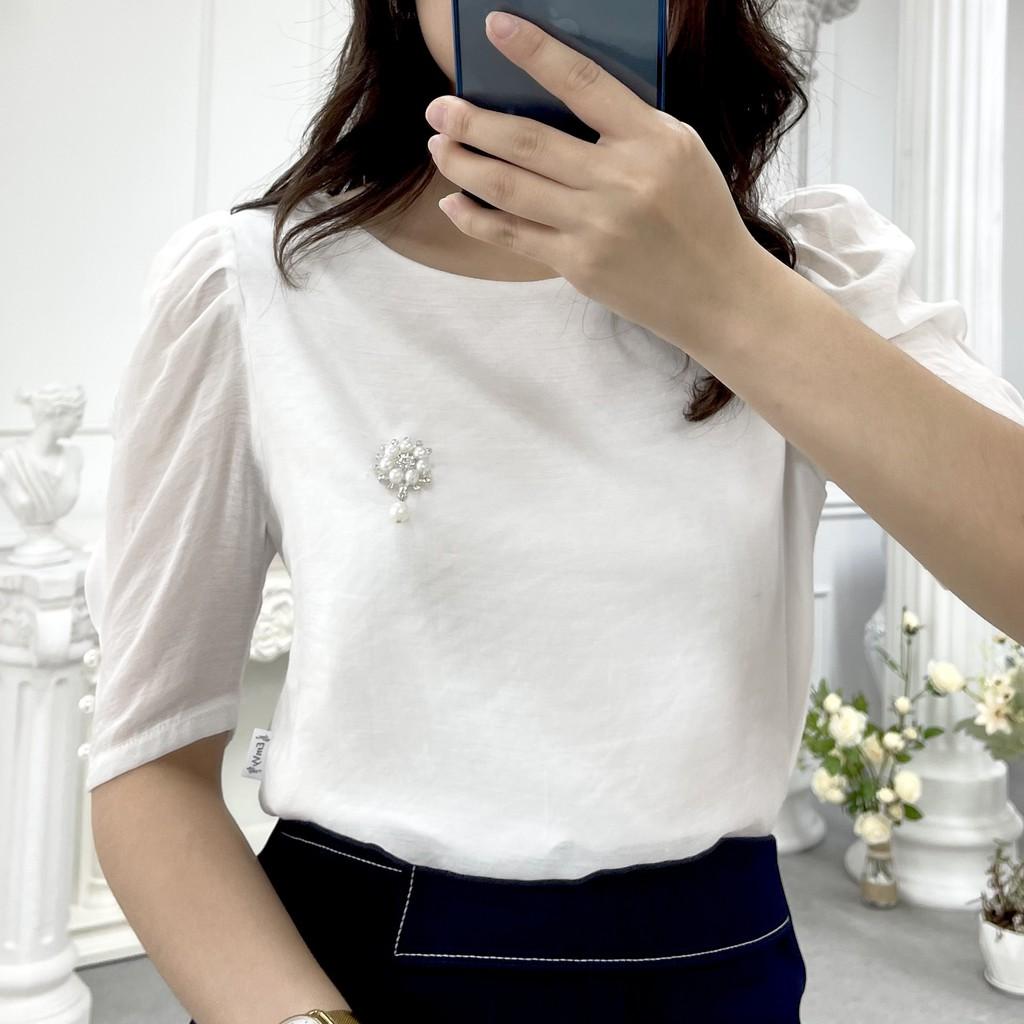 Mặc gì đẹp: Xinh xinh với Áo sơ mi nữ công sở tay lỡ chất liệu Voan Lụa sang trọng nhẹ ,mát, phù hợp công sở dự tiệc Emvy H8