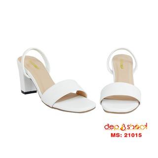 Sandal cao gót big size quai ngang hậu thun gót 7cm Depvashock - 20015