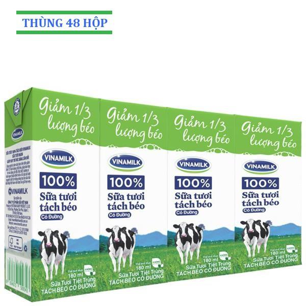 Sữa tươi Vinamilk Tách béo có đường 180ml: Thùng 48 hộp - 3407029 , 622715251 , 322_622715251 , 336864 , Sua-tuoi-Vinamilk-Tach-beo-co-duong-180ml-Thung-48-hop-322_622715251 , shopee.vn , Sữa tươi Vinamilk Tách béo có đường 180ml: Thùng 48 hộp