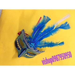 (M08) mặt nạ hóa trang lông vũ-w06 otoke | Squishyvui