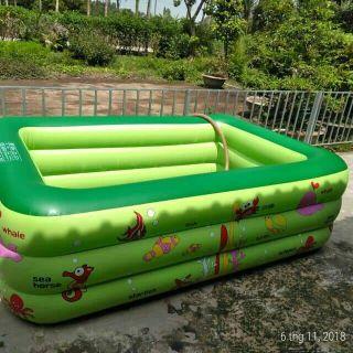 Bể bơi chữ nhật hàng cao cấp size Đại 210cm