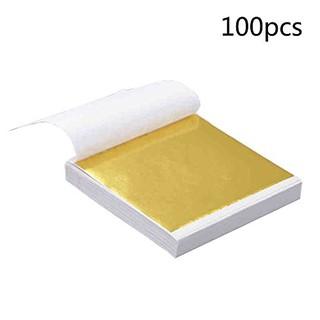Lá giả vàng trang trí 9x9cm – combo 100 lá vàng