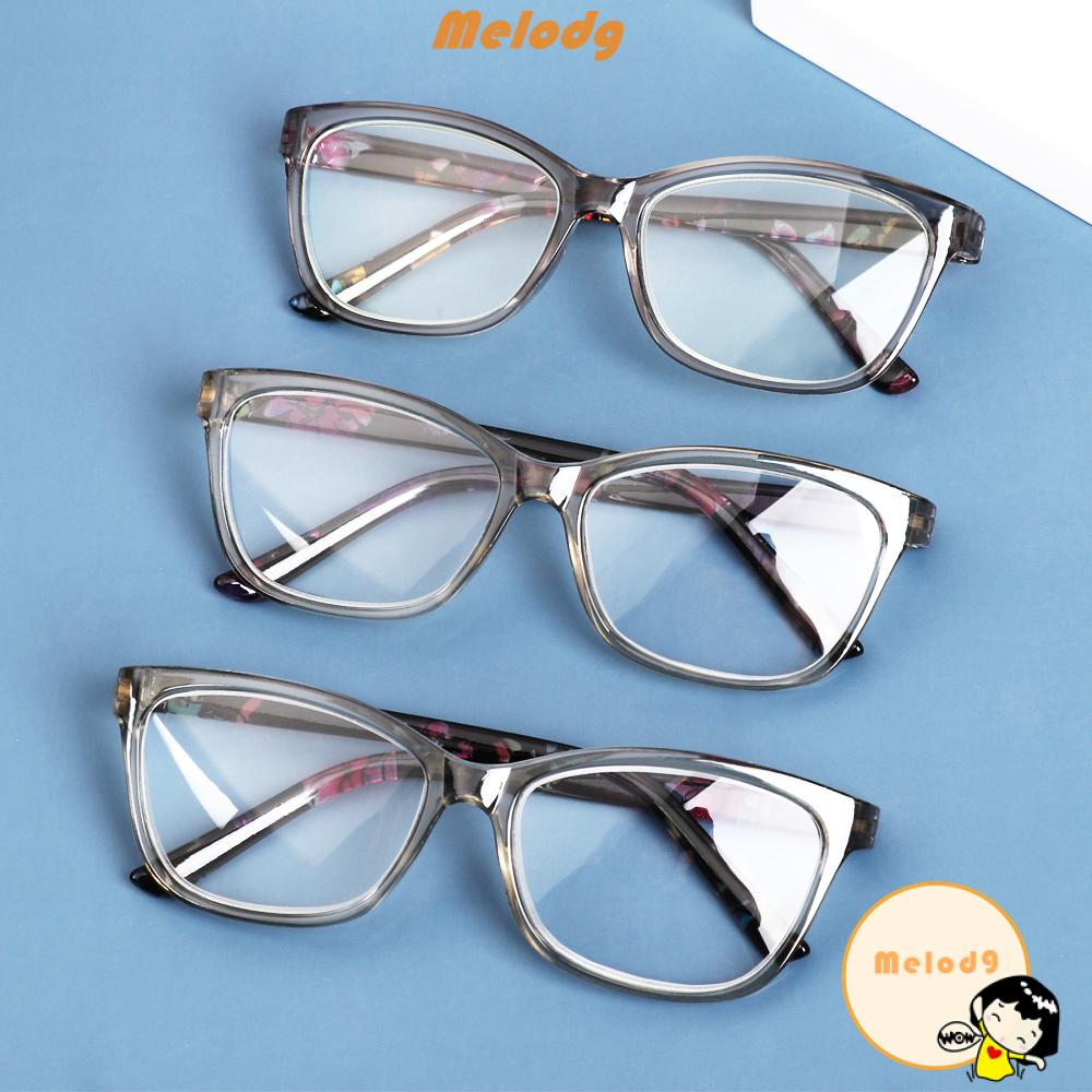 💍MELODG💍 Portable Floral Reading Glasses Radiation Protection Spectacle Frames Presbyopia Eyeglasses With Diopters +1.0~+4.0 Ultralight PC Frame HD Resin Lens Anti Glare Eyewear