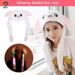 Flash Rabbit Cap Dance Rabbit Cap Light Imitate Joke Sweet