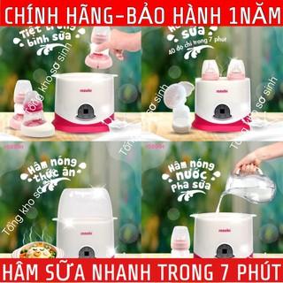 [Có video hướng dẫn]Máy Hâm Sữa Tiệt Trùng 2 Bình Sữa Cổ Rộng 5 Chức Năng ROZABI-Bảo Hành 1 Năm