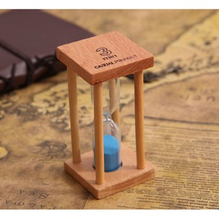 Đồng hồ cát 3 phút khung gỗ cổ điển, để bàn siêu nhỏ gọn