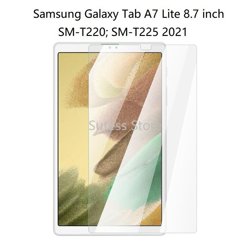 Kính cường lực trong suốt bảo vệ màn hình máy tính bảng full HD cho Samsung Galaxy Tab A7 Lite 8.7 inch T220 T225 2021