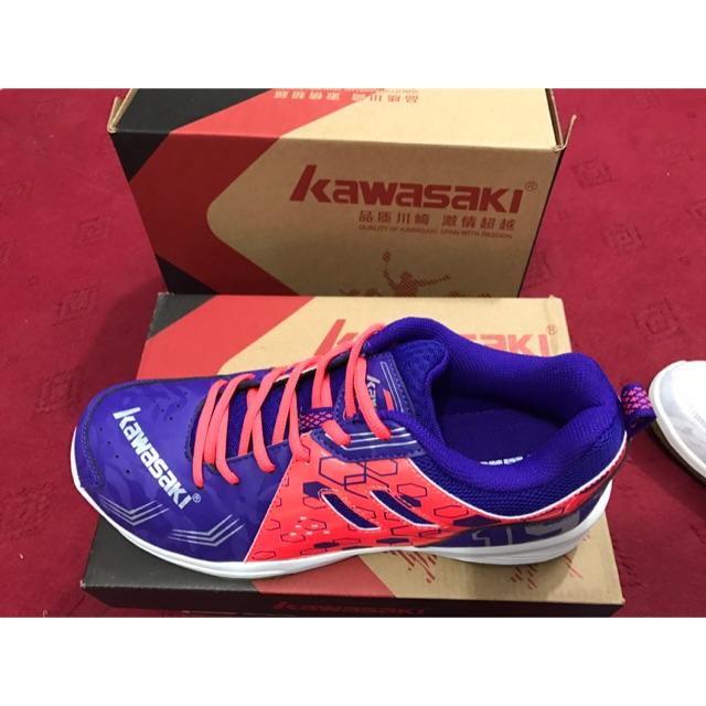 Giày cầu lông, giày bóng chuyền K070 xanh tím chính hãng