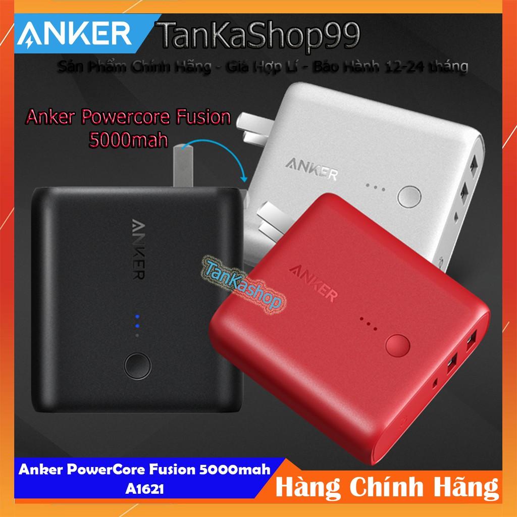 Củ Sạc Kiêm Pin Dự Phòng Anker PowerCore Fusion 5000mah - A1621