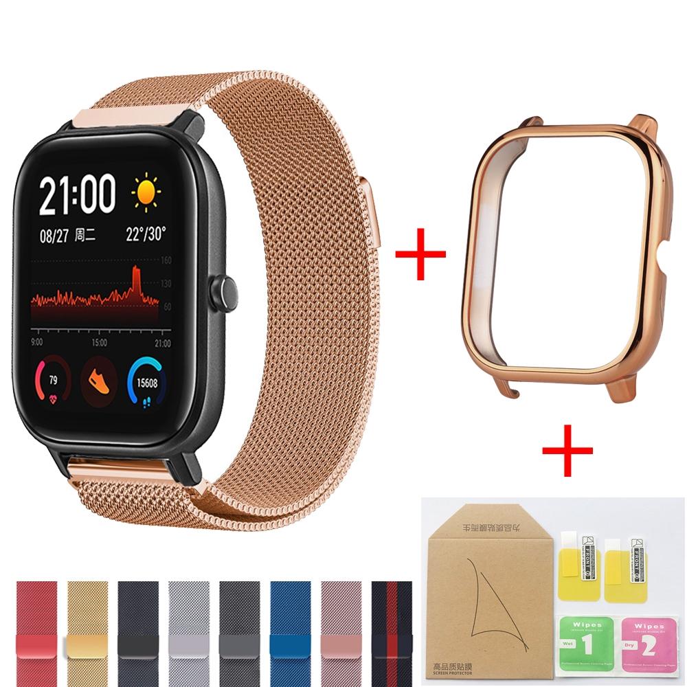 Set dây đeo + ốp bảo vệ mặt đồng hồ kèm phụ kiện Xiaomi Huami Amazfit Gts