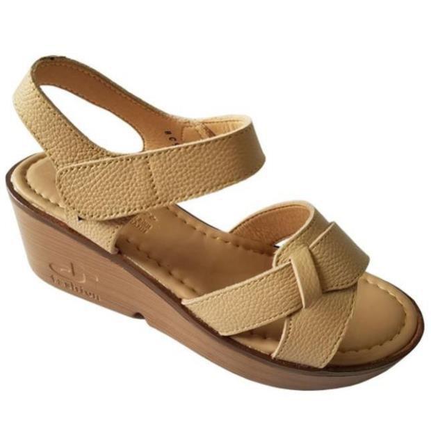 [Sale 3/3]Giày sandal xuồng nữ BIGGBEN da bò thật cao cấp HKD044 -x13