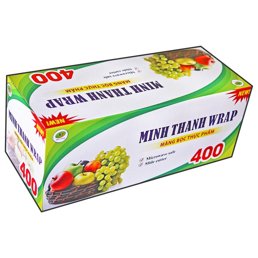 Màng bọc thực phẩm SIÊU TIẾT KIỆM MINHTHANH WRAP 400 - Có dao cắt nhựa