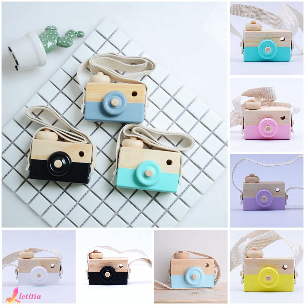 Cute Children's Handmade Wooden Camera Creative Gift Toy Letitia