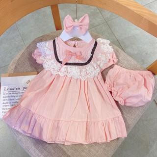 (bán sỉ) sét váy 3 chi tiết váy +chíp +tuban cho bé siêu đẹp
