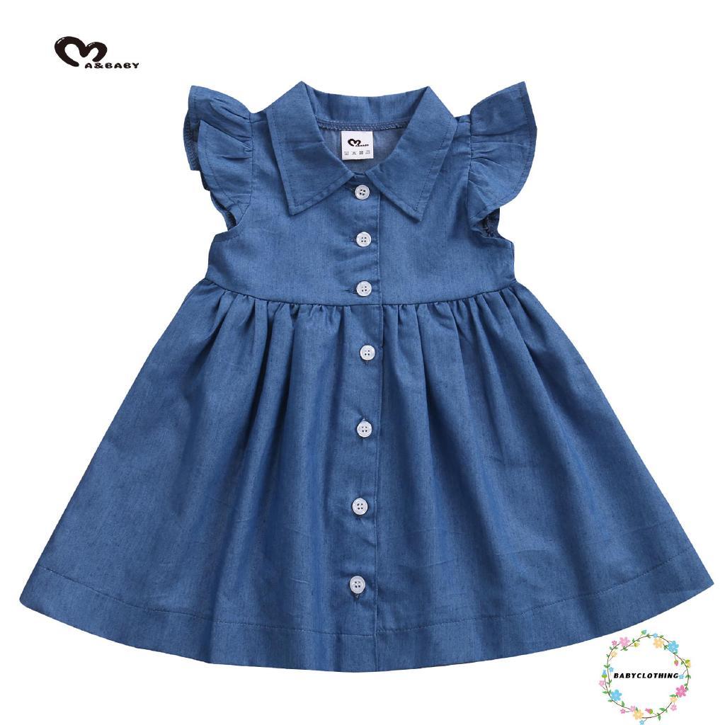 Đầm không tay dễ thương cho bé gái