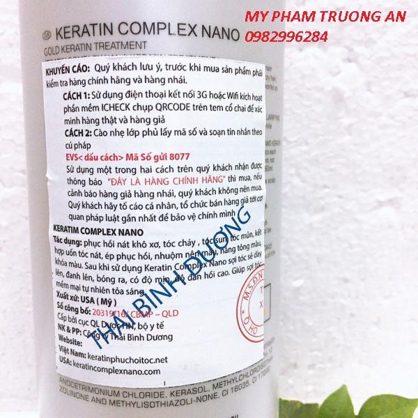 Hấp ủ tóc cao cấp keratin complex nano 1000ml