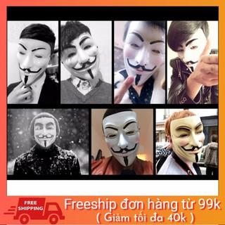 Mặt nạ Hacker mặt nạ Anonymous hàng dẹp loại 1 (Trắng)