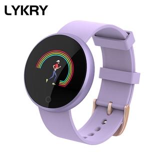 Lykry Đồng hồ thông minh B36 theo dõi nhịp tim dành cho nữ kết nối điện thoại IPhone Samsung Huawei