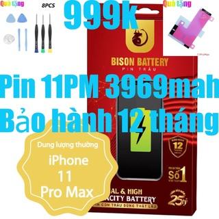 Pin iPhones 11 Pro Max Con Trâu Bison 3969mah chính hãng thumbnail