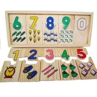 Hộp Ghép Số Và Học Đếm Bằng Gỗ Montessori