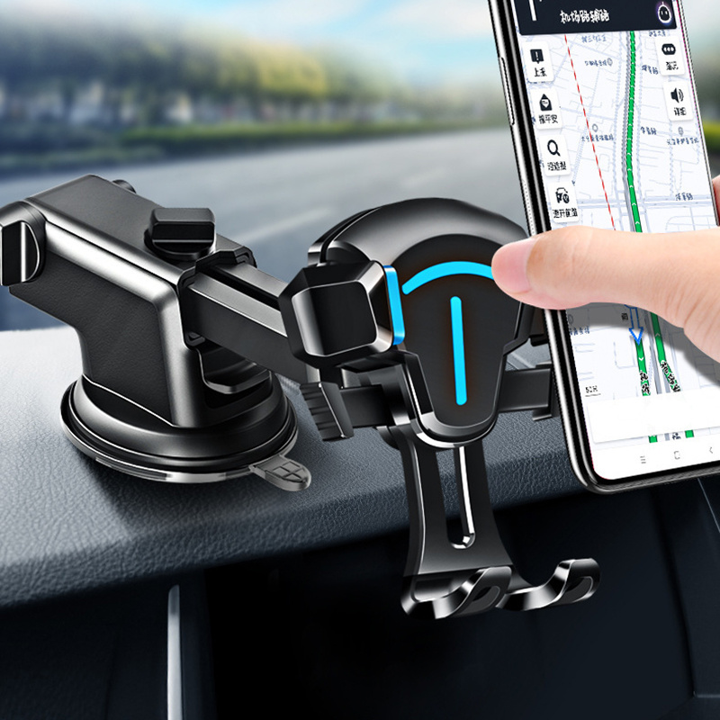Universal Car Phone Holder/Suction Cup Air Outlet 2-in-1 Mobile Phone Holder/Long Rod Telescopic Mobile Navigation Bracket for Smartphone and GPS