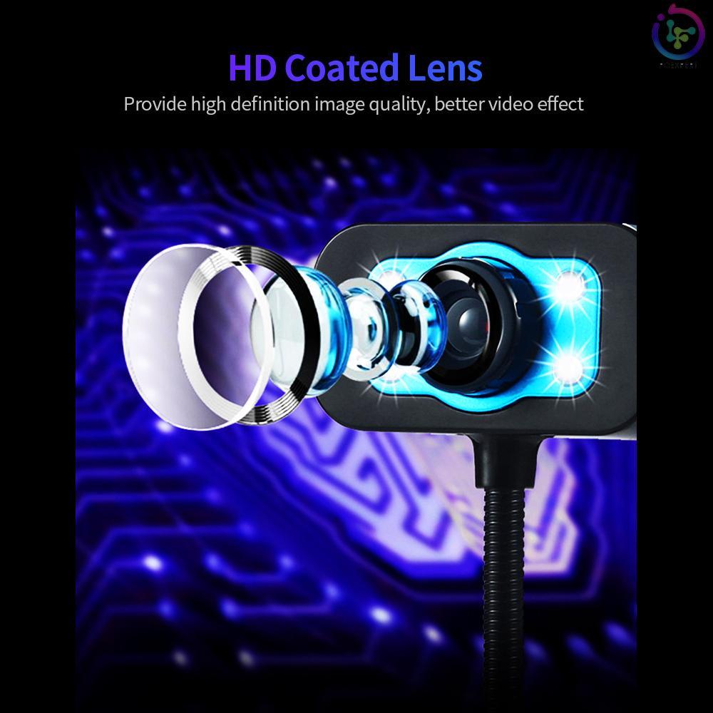 Webcam Usb 480p Không Ổ Đĩa Gắn Micro Có Đèn Cho Pc Laptop