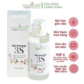 Dầu massage 3S Tinh Dầu 100 dành cho nữ, bôi trơn gốc dầu, mùi hoa hồng 80ml thumbnail