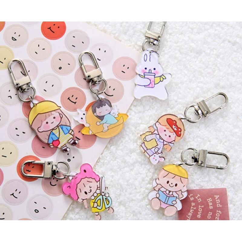 Móc Khóa Acrylic, Keychain Cài Airpod Hình Hoạt Hình Dễ Thương BiTi Store MK356