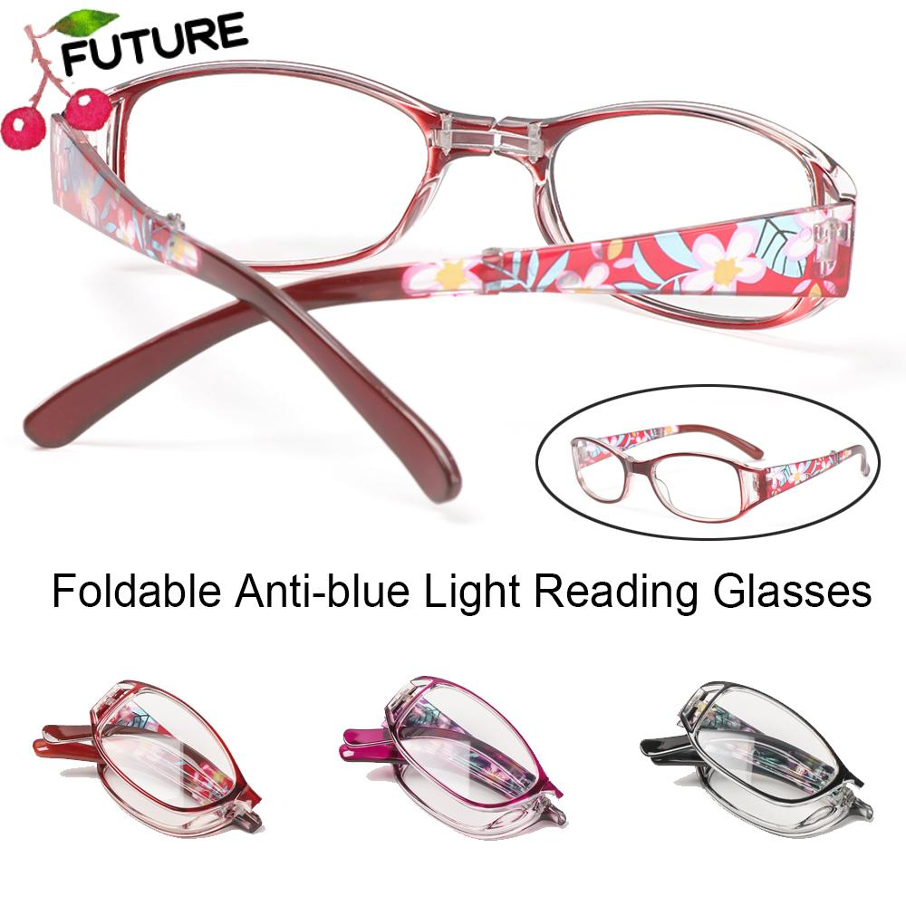 🎈FUTURE🎈 Men Women Foldable Reading Eyeglasses Radiation Protection Computer Goggles Anti-blue Light Glasses Printing Vision Care Vintage Classic Fashion Folding Presbyopia Eyewear/Multicolor