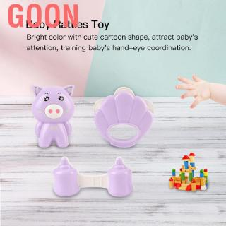 Goon 3pcs/set Baby Newborn Plastic Animal Rattles Toy Musical Hand Shake Bed Bell Toys