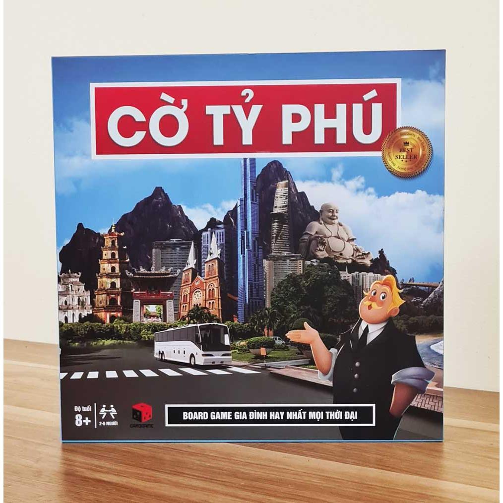 Cờ tỷ phú Monopoly Việt hoá tiếng Việt cỡ lớn giá rẻ, tiền Việt polime trò chơi gia đình học làm giàu