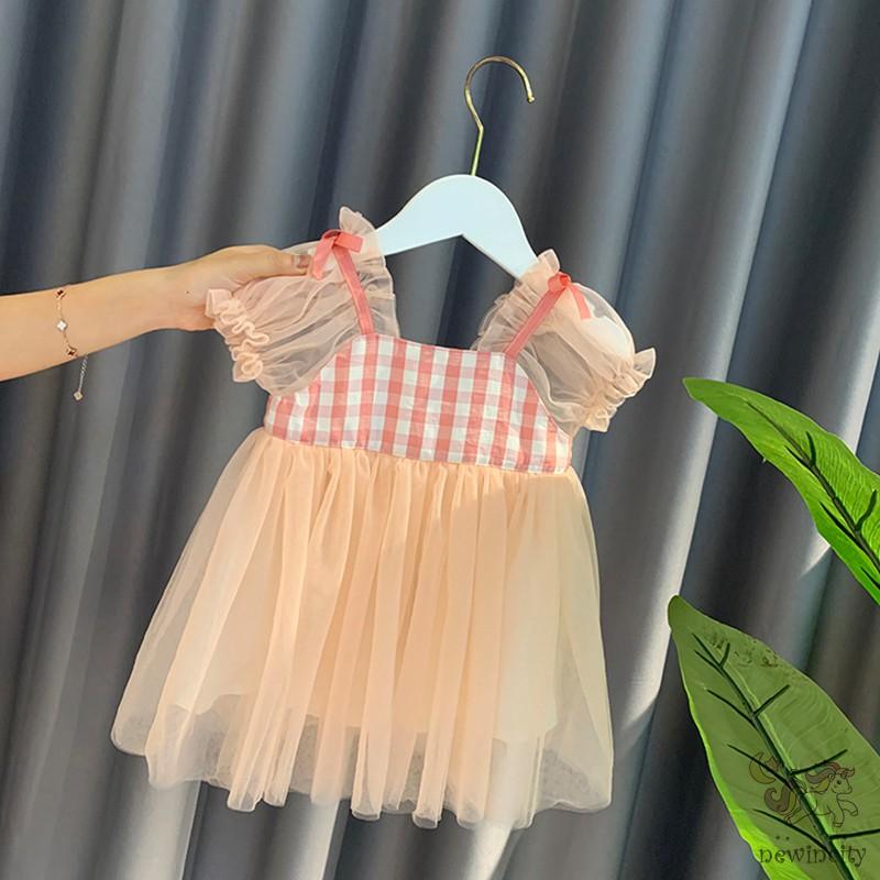 Đầm Công Chúa Tay Phồng Kiểu Hàn Quốc Thời Trang Mùa Hè Cho Bé Gái