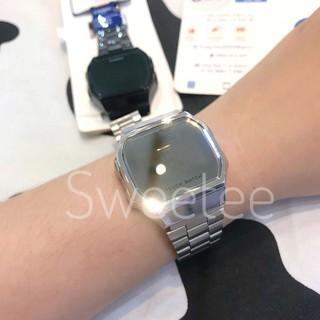 Đồng hồ nam, nữ Sweetee Tráng Gương dây thép kiểu dáng sang trọng