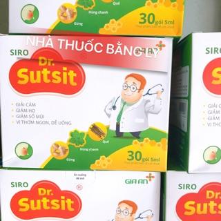 Siro Dr.Sutsit giảm ho, sổ mũi, cảm. Thơm ngon dễ uống. (Hộp 30 gói x 5ml)