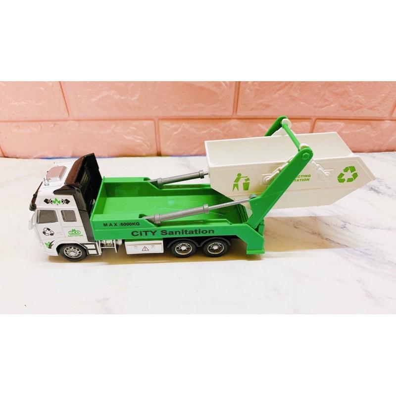 Xe trớn mô hình có âm thanh nhiều mẫu (xe rác/xe móc/xe bồn/container)